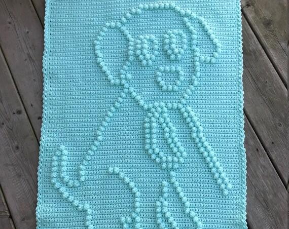 Doggy Walking Fun Crochet Baby Blanket Pattern - Baby Blanket Pattern - Blanket Pattern