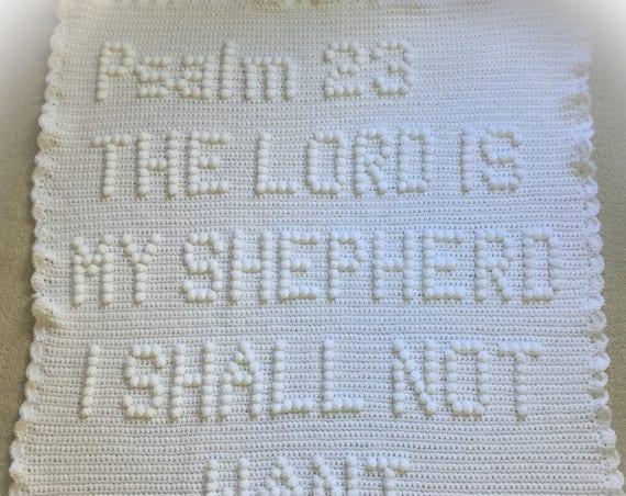 Psalm 23 Crochet Baby Blanket Pattern - Baby Blanket Pattern - Blanket Pattern