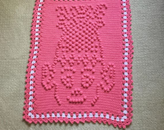 Tina the Troll - Crochet Baby Security Blanket Pattern  - Baby Snuggle Blanket   - Car Seat or Stroller Blanket