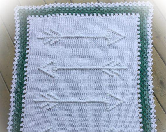 Four Arrows Crochet Baby Blanket Pattern - Baby Blanket Pattern - Blanket Pattern