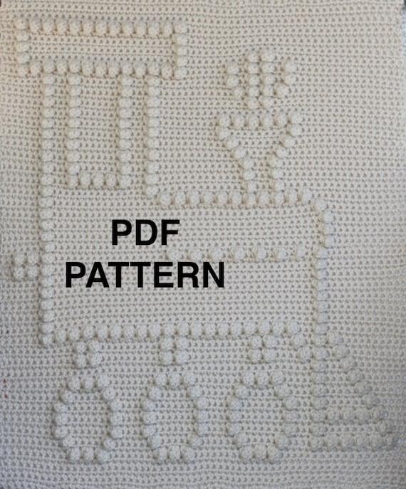 Choo Choo Train Baby Blanket Pattern - Crochet Pattern - Crochet Baby Blanket  - Baby Snuggle Blanket  - Car Seat or Stroller Blanket