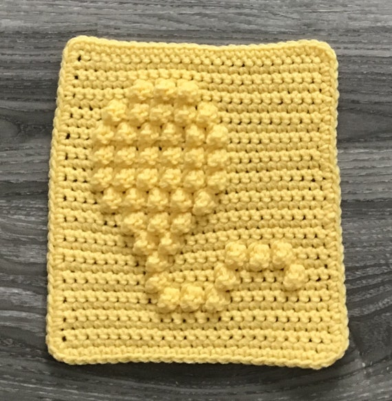 Balloon Square Crochet Pattern - Baby Blanket Squares Pattern - Washcloth Pattern - Facecloth Pattern