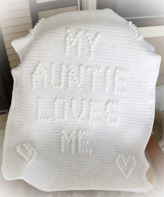 My Auntie Loves Me Crochet Baby Blanket Pattern - Baby Blanket Pattern - Blanket Pattern