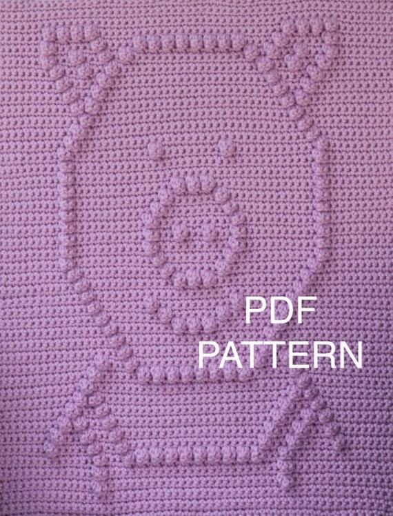 Crochet Pattern - Piggie Blanket - Crochet Baby Security Blanket  - Baby Snuggle Blanket  - Car Seat or Stroller Blanket