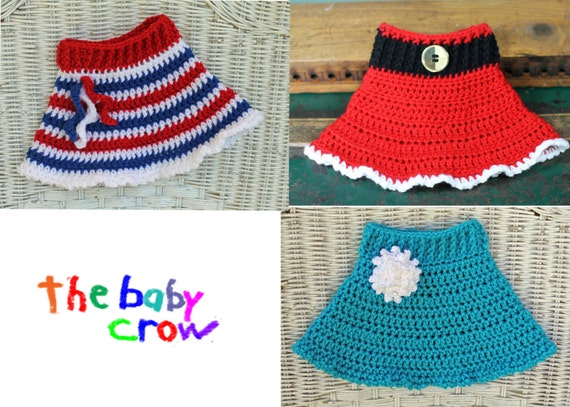 INSTANT DOWNLOAD - Versatile Crochet Baby Skirt Pattern - 3 Patterns in One
