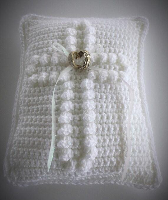 Crochet Wedding Ring Pillow Pattern Wedding Ring Bearer