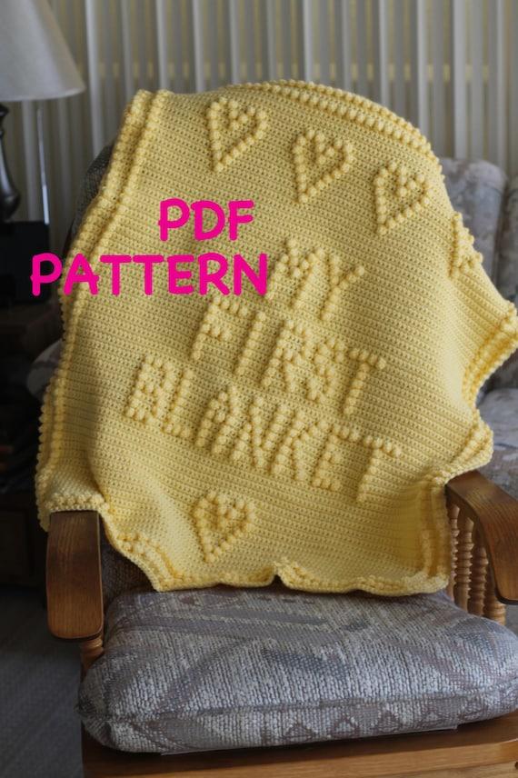 PATTERN - Crochet Baby Blanket Pattern - Baby Blanket Pattern - Blanket Pattern