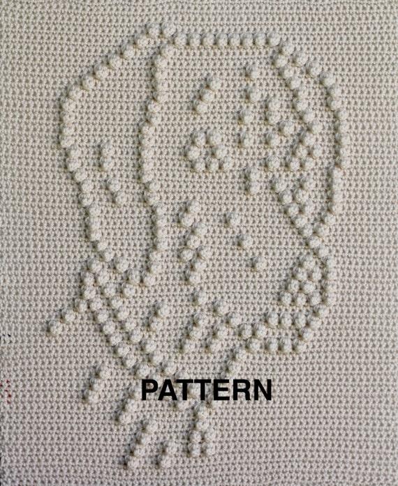 Crochet Baby Blanket - Lola the Weimaraner - Wall Hanging - Car Seat Blanket - Stroller Blanket