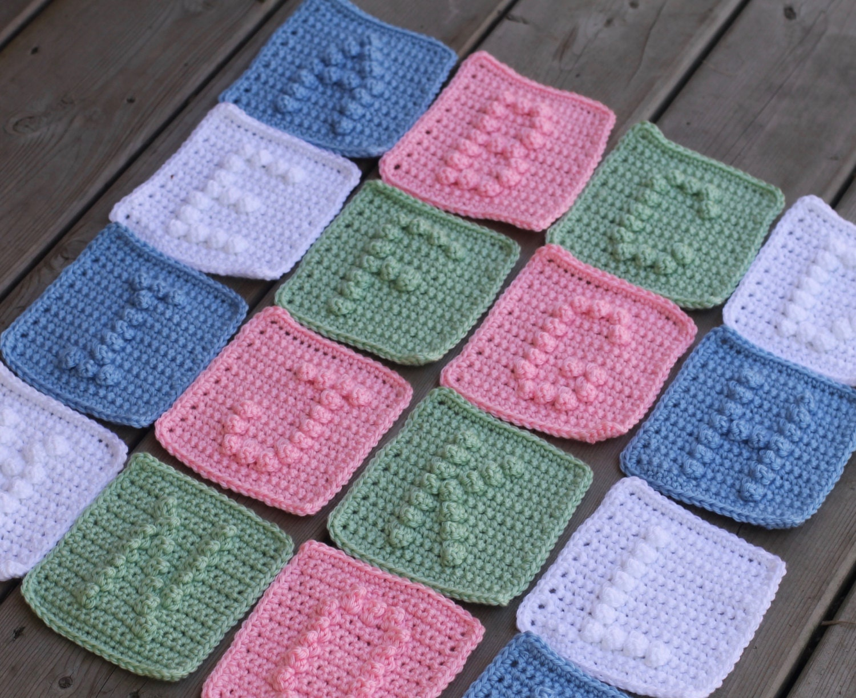 UPPER CASE Alphabet Letters A-Z Crochet Pattern with Bonus Heart ...