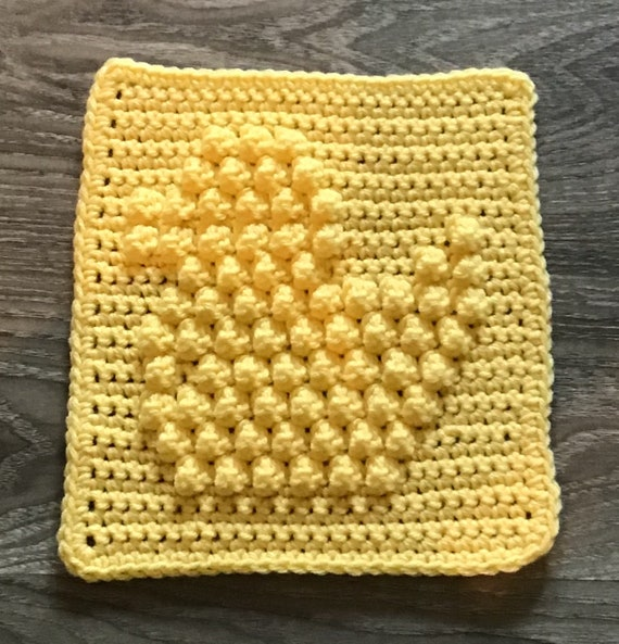 Ducky Square Crochet Pattern - Baby Blanket Squares Pattern - Washcloth Pattern - Facecloth Pattern