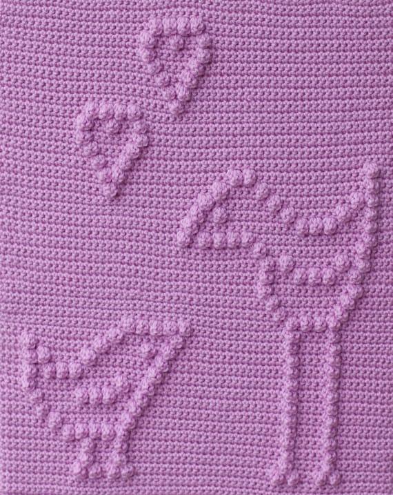 Love Birds Baby Blanket Pattern - Crochet Pattern - Crochet Baby Blanket  - Baby Snuggle Blanket  - Car Seat or Stroller Blanket