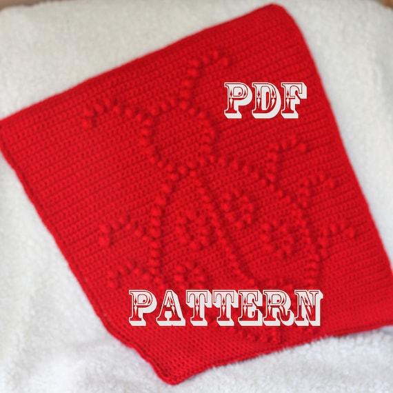 Crochet Pattern - Crochet Baby Blanket  - Baby Snuggle Blanket  - Ladybug Blanket Pattern - Car Seat or Stroller Blanket