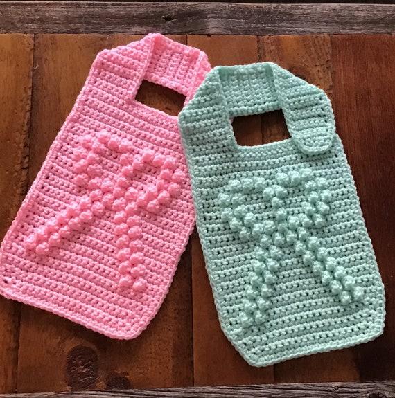Baby Bib with Bobble Stitch Bow Crochet Pattern - Baby Bib - Bobble Bib - Bow Bib