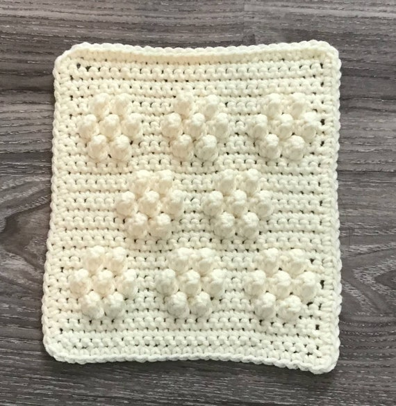 Daisies/Snowflake Square Crochet Pattern - Baby Blanket Squares Pattern - Washcloth Pattern - Facecloth Pattern