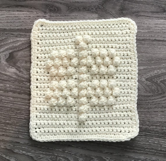 Dragonfly Square Crochet Pattern - Baby Blanket Squares Pattern - Washcloth Pattern - Facecloth Pattern