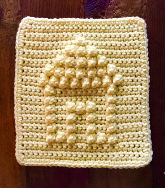House Square Crochet Pattern - Baby Blanket Squares Pattern - Washcloth Pattern - Facecloth Pattern