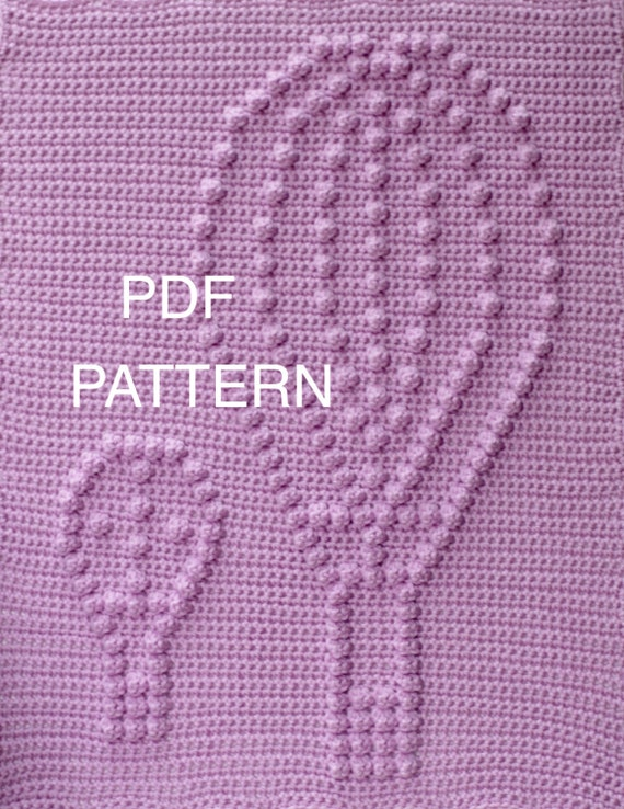 Hot Air Balloon Baby Blanket Pattern - Crochet Pattern - Crochet Baby Blanket  - Baby Snuggle Blanket  - Car Seat or Stroller Blanket