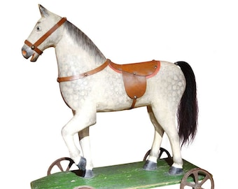German Horse Pull Toy