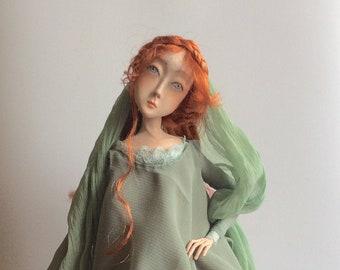 Art doll  OOAK   OOAK art doll Paperclay doll   Handmade doll  Home decor  Collecting doll Air dry clay doll  Decotative doll Interior doll