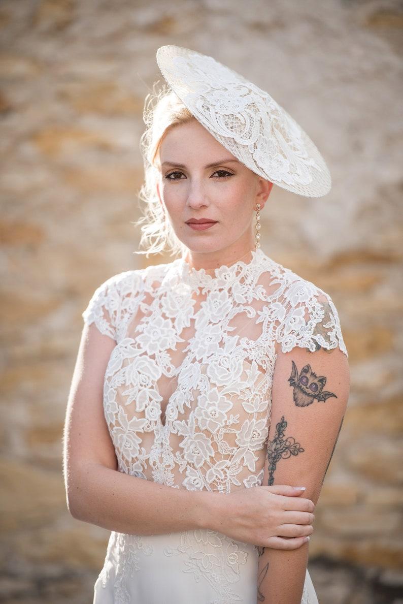 Lace Bridal Hat Fascinator Wedding Hats Women Wedding Hats image 0
