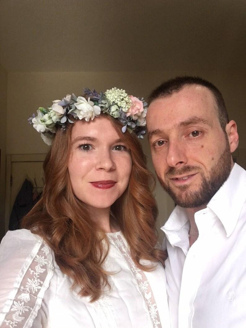 Wedding Floral Crown Bohemian Head Piece Wedding Flower Crown image 0
