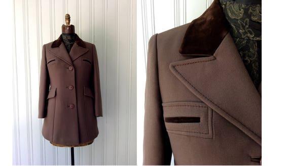 vintage Brown Jacket 80s Riding Hunting Blazer Equ