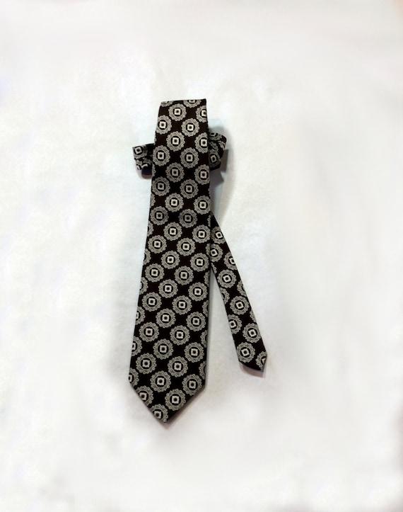 Vintage silver tie New tie in original package Made in 1970s in ex Yugoslavia