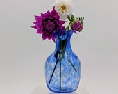 Handblown Glass Blue Vase