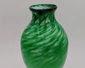 Glass Green Twist Vase