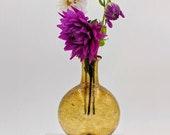 Handblown Glass Amber Bud Vase