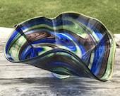 Hand Blown Glass dish Mul...