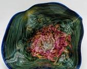 Glass Vibrant Floppy Bowl