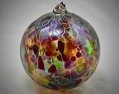 Hand Blown Glass Ornament - Mardi Gras Party Mix