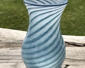 Hand Blown Glass Vase Blu...