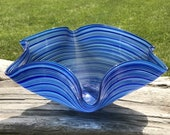 Hand Blown Glass Dish