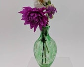 Handblown Glass Green Bud Vase