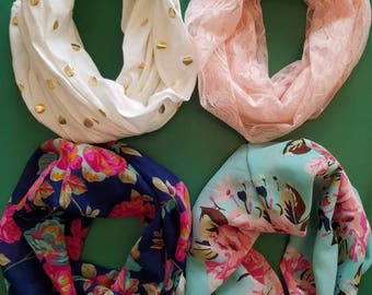 Kids Infinity Scarf, Mommy Daughter Set, You choose print