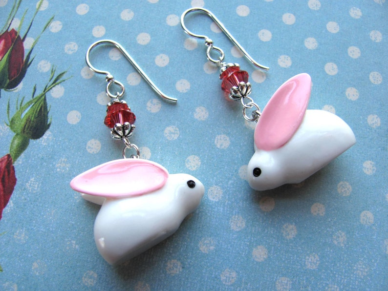 d42b708f6 Bunny Earrings Easter Earrings Holiday Earrings Swarovski | Etsy