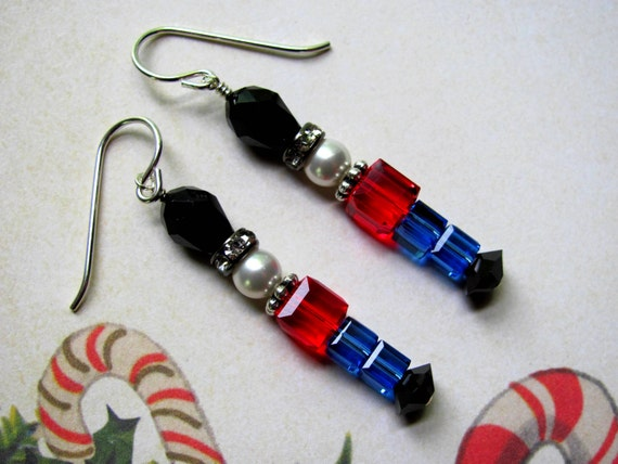 c4eecb8c0 Toy Soldier Earrings Holiday Earrings Swarovski Earrings | Etsy