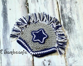 Football Themed Mohawk Hat