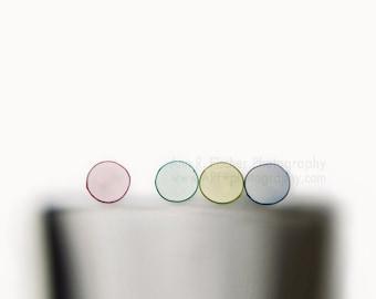 Abstract Circles Photo, Colored Straws on White, Still Life Photo, Minimalist Art, Framed Art Print, Fine Art Photo, Canvas, FREE SHIPPING