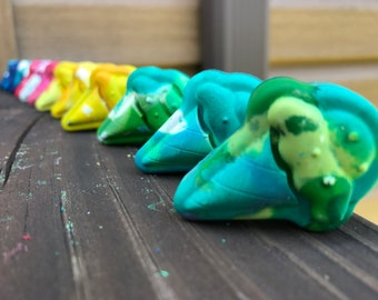 Upcycled Ice Cream Crayons, Party Favors, Ice Cream Crayons, Handmade Crayons, Ice Cream Party, 12 pieces, Ready to Ship