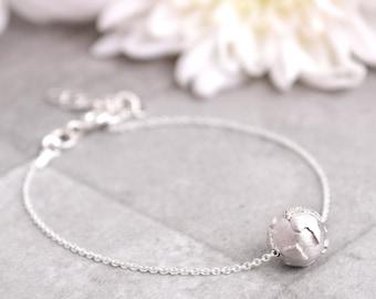 3D Globe Charm /Silver Bracelet /Gifts for women/Travel Gift/Dainty Bracelet/Chain Bracelet/Travel Jewelry/Globe Bracelet/Inspirational Gift