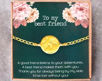 Best Friend Birthday  Birthday GiftsBest Friend JewelryBest Friend GiftTravel buddy GiftFriendship GiftThank You GiftSoul SisterBFF