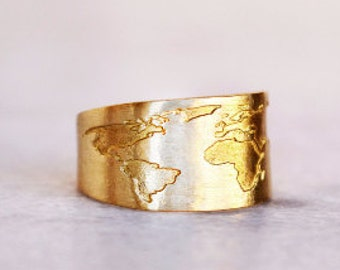 Travel Ring / Globe Ring / Travel Gift / World Map Ring / Everyday ring / Map Ring / Gift for Women / Dainty Ring / Graduation Gift