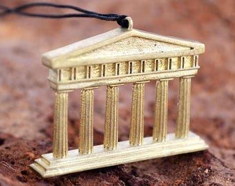 Parthenon Necklace / Ancient Greek Temple Necklace / Acropolis / Send off Vacation Gift / Greek Souvenir/ Summer In Greece / Athens Souvenir