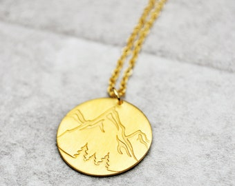 Mountain Necklace Etsy