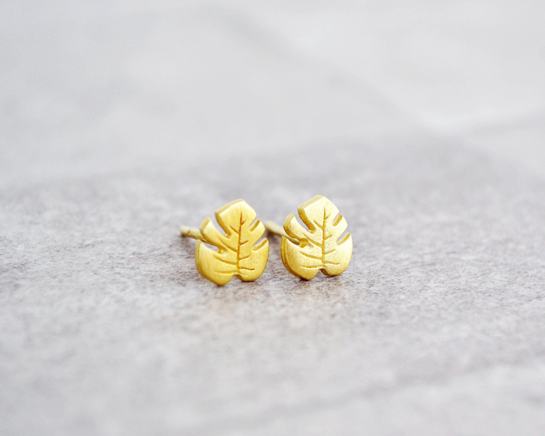 Sterlingsilber 925 Hawaii Frangipani Tropischer Blume Ohrstecker Post Ohrringe
