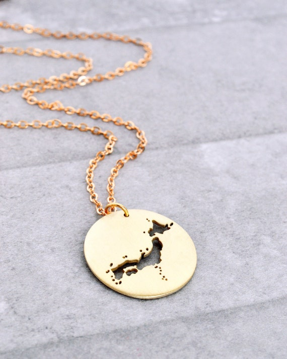 Sterling Silver Outline Map Of Country Of Japan Word Charm