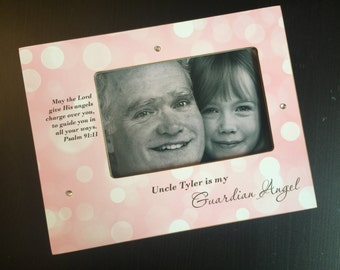 Guardian Angel Personalized Frame Memorial Gift Remembrance Gift Personalized In Memory of Memorial Frame Personalized Wood 4x6 Photo Frame